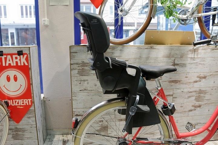 Retro Fahrrad + Mutter-Kind-Kindersitz in 2Rad Fahrradladen München